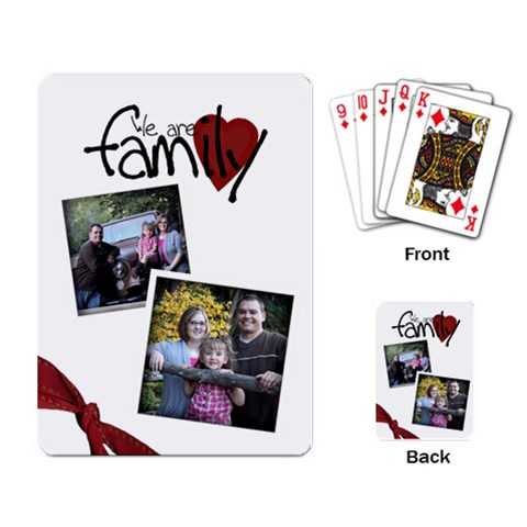 Family Playing Cards By Amanda Bunn   Playing Cards Single Design   G3viu2oxkn46   Www Artscow Com Back