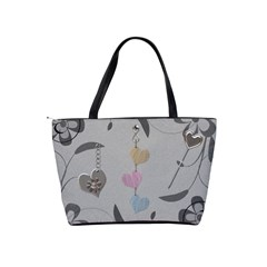Love Makes The Word Go Round Shoulder Handbag By Lil    Classic Shoulder Handbag   I39cqck4c334   Www Artscow Com Back