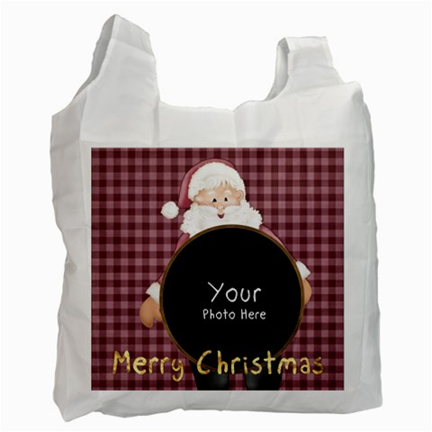 Lil=santabag2 By Lillyskite   Recycle Bag (one Side)   9r7dmyawfue9   Www Artscow Com Front