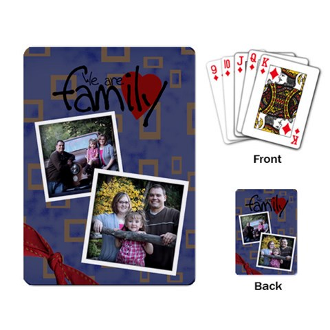Family Playing Cards Funky By Amanda Bunn   Playing Cards Single Design   0vfqz491lio2   Www Artscow Com Back
