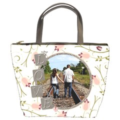Love Flower Bucket Bag By Lil    Bucket Bag   Nipc11yx5cf7   Www Artscow Com Front