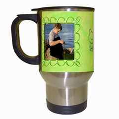 Frog Salad Travel Mug By Joan T   Travel Mug (white)   C9yzbq6f02qp   Www Artscow Com Left