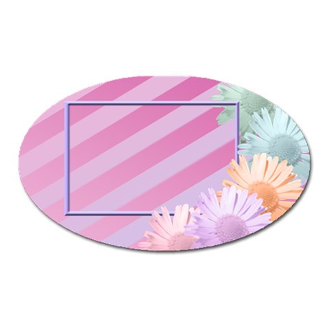 Flowers Magnet By Add In Goodness And Kindness   Magnet (oval)   Cmd9cru517lv   Www Artscow Com Front