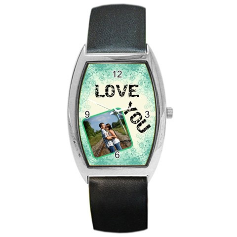 Love You Barrel Style Watch By Lil    Barrel Style Metal Watch   Pqucsfas9gnk   Www Artscow Com Front