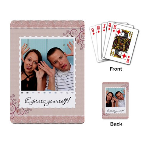 Express Yourself! Playing Cards By Lil    Playing Cards Single Design   Dfvvf8ih7yyk   Www Artscow Com Back
