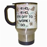 Off to Work I Go Mug #1 - Travel Mug (White)