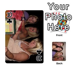 Mels Bday Cards By Brittany Nelson   Playing Cards 54 Designs   C0n4hsa6epbr   Www Artscow Com Front - Club10