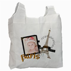 Paris By Joely   Recycle Bag (two Side)   Qqdt7j25q6v7   Www Artscow Com Front