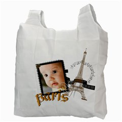 Paris By Joely   Recycle Bag (two Side)   Qqdt7j25q6v7   Www Artscow Com Back