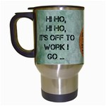 Off to Work I Go Mug #2 - Travel Mug (White)