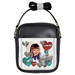 Hearts, Hearts, Hearts Girls Sling Bag