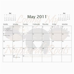 Naptural Roots 2011 Calendar By Leanne Dolce   Wall Calendar 11  X 8 5  (12 Months)   S1wxosl162hz   Www Artscow Com May 2011