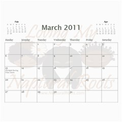 Naptural Roots 2011 Calendar By Leanne Dolce   Wall Calendar 11  X 8 5  (12 Months)   S1wxosl162hz   Www Artscow Com Mar 2011