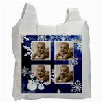 Let it snow midnight blue recycle bag - Recycle Bag (Two Side)