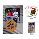 Eat, Drink, Sports Playing Cards - Playing Cards Single Design