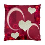 I Heart You Pink Pillow Cushion Case - Cushion Case (One Side)