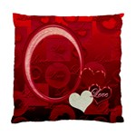 I Heart You red Pillow Cushion Case - Cushion Case (One Side)
