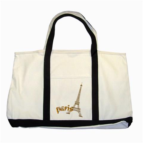Paris By Joely   Two Tone Tote Bag   Fg5cm3qtlyze   Www Artscow Com Front