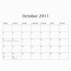 Calendar By Paula Good   Wall Calendar 11  X 8 5  (12 Months)   3hirlgl1jzte   Www Artscow Com Oct 2011