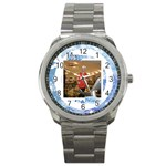 jolly holidays snowflake stainless steel watch - Sport Metal Watch