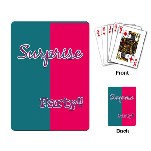 Birthday Cards Party Favor By Brookieadkins Yahoo Com   Playing Cards Single Design   Xe0vnwilnz1c   Www Artscow Com Back
