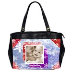 Merry christmas snowflakes oversized office handbag - Oversize Office Handbag (2 Sides)