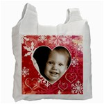my winter valentine  snowflakes recycle bag - Recycle Bag (Two Side)