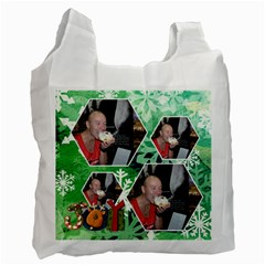 Winter Wonderland Snowflakes Recycle Bag By Catvinnat   Recycle Bag (two Side)   Fo0y5i4rfxyu   Www Artscow Com Front