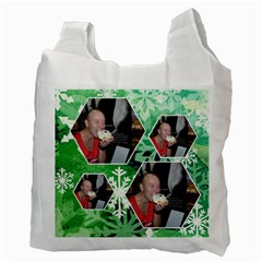 Winter Wonderland Snowflakes Recycle Bag By Catvinnat   Recycle Bag (two Side)   Fo0y5i4rfxyu   Www Artscow Com Back
