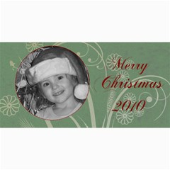 Merry Christmas 2010 Green By Amanda Bunn   4  X 8  Photo Cards   2hvkzgoee1g8   Www Artscow Com 8 x4 Photo Card - 2