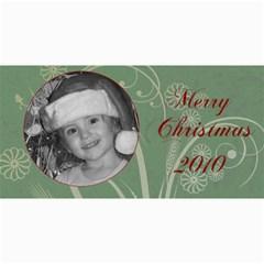 Merry Christmas 2010 Green By Amanda Bunn   4  X 8  Photo Cards   2hvkzgoee1g8   Www Artscow Com 8 x4  Photo Card - 3