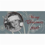 Merry Christmas 2010 turquoise - 4  x 8  Photo Cards