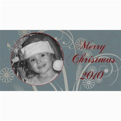 Merry Christmas 2010 Turquoise By Amanda Bunn   4  X 8  Photo Cards   F90rcffx4m0y   Www Artscow Com 8 x4 Photo Card - 2