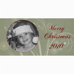 Merry Christmas Blue And Green By Amanda Bunn   4  X 8  Photo Cards   Z26ia66o2w90   Www Artscow Com 8 x4 Photo Card - 2