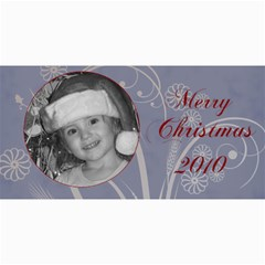 Merry Christmas Blue And Green By Amanda Bunn   4  X 8  Photo Cards   Z26ia66o2w90   Www Artscow Com 8 x4 Photo Card - 3