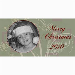 Merry Christmas Blue And Green By Amanda Bunn   4  X 8  Photo Cards   Z26ia66o2w90   Www Artscow Com 8 x4 Photo Card - 9