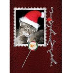 Santa Christmas Card - Greeting Card 5  x 7
