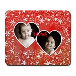 Twin hearts love valentines mousemat - Large Mousepad