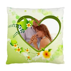 Green Love By Wood Johnson   Standard Cushion Case (two Sides)   Yeuduire7d8z   Www Artscow Com Back