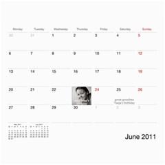 Calendar Katja By Irina   Wall Calendar 11  X 8 5  (12 Months)   Znk9dak4kbiw   Www Artscow Com Jun 2011