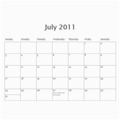 Calendario Gabriel By Thais   Wall Calendar 11  X 8 5  (12 Months)   Mw7zj3oklhvw   Www Artscow Com Jul 2011