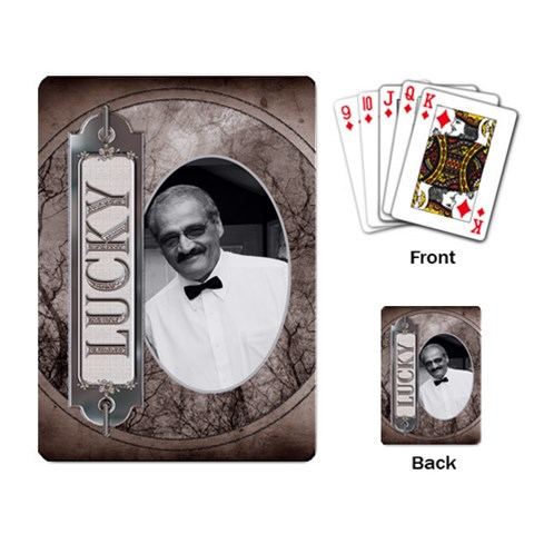 Lucky Playing Cards By Lil    Playing Cards Single Design   D7s6bmxbehi4   Www Artscow Com Back