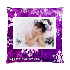Merry Christmas Princess Snowflake Cushion By Catvinnat   Standard Cushion Case (two Sides)   7fev4mux27gj   Www Artscow Com Front