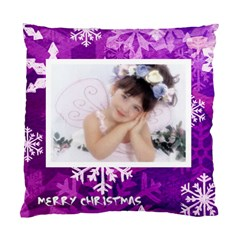 Merry Christmas Princess Snowflake Cushion By Catvinnat   Standard Cushion Case (two Sides)   7fev4mux27gj   Www Artscow Com Back