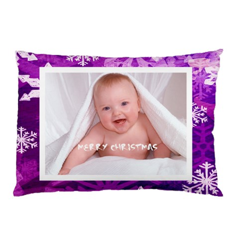 Merry Christmas Funky Snowflake  Pillow Case By Catvinnat   Pillow Case   Xsi20o2v3n0s   Www Artscow Com 26.62 x18.9 Pillow Case