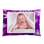 Merry Christmas funky snowflake  pillow case