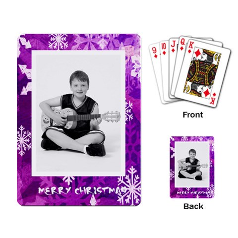 Merry Christmas Funky Snowflake Playing Cards By Catvinnat   Playing Cards Single Design   Uo638eu73ar9   Www Artscow Com Back