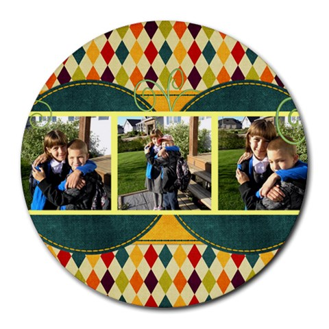 Circle Fun By Albums To Remember   Round Mousepad   Zwdker903v4y   Www Artscow Com Front
