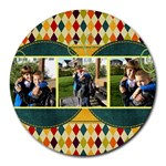 Circle Fun - Round Mousepad