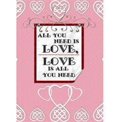 All You Need Is Love Valentine Card By Lil    Greeting Card 5  X 7    J0ekufpoo0ue   Www Artscow Com Front Cover